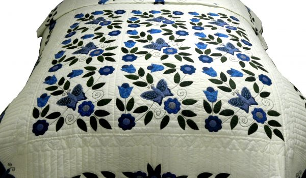 Blue Bird Amish Quilt
