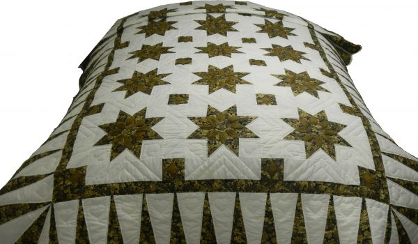 Black Gold Twin Quilt