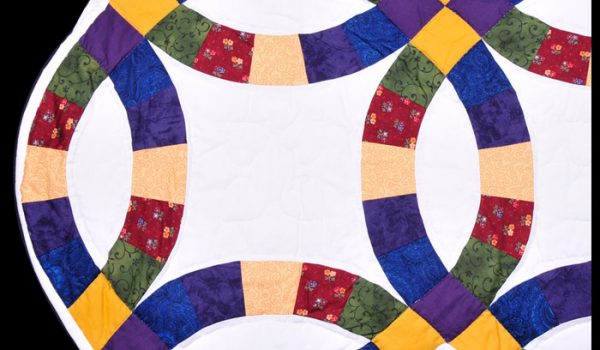multicolor wedding quilt