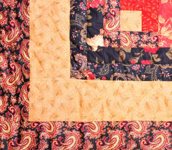 mustard red quilt