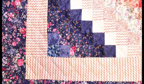 purple red quilt