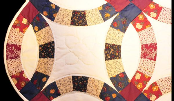 white red blue quilt